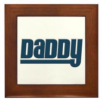 Daddy - Blue Framed Tile