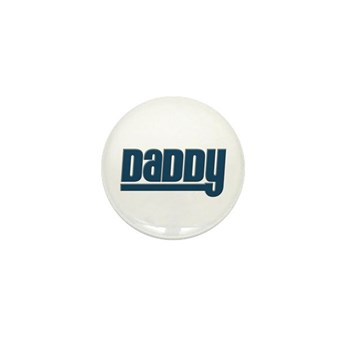 Daddy - Blue Mini Button (10 pack)