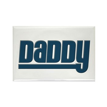 Daddy - Blue Rectangle Magnet (100 pack)