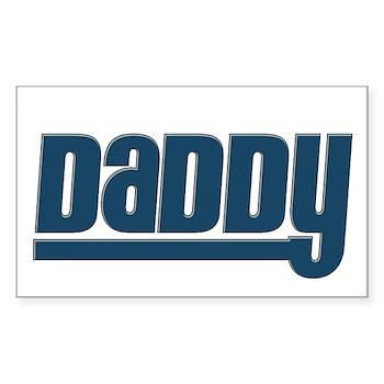Daddy - Blue Rectangle Sticker