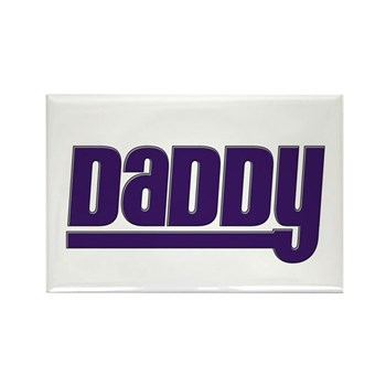 Daddy - Purple Rectangle Magnet (10 pack)