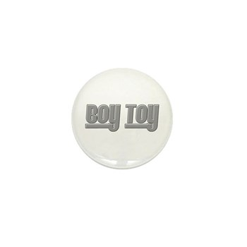 Boy Toy - Gray Mini Button (100 pack)