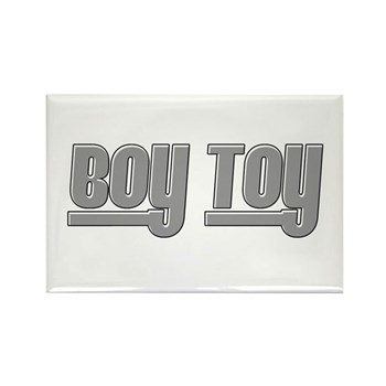 Boy Toy - Gray Rectangle Magnet