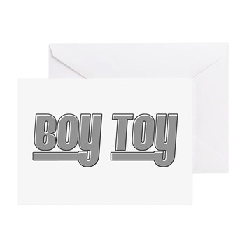Boy Toy - Gray Greeting Cards (10 pack)