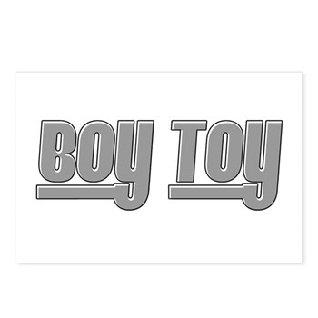 Boy Toy - Gray Postcards (Package of 8)