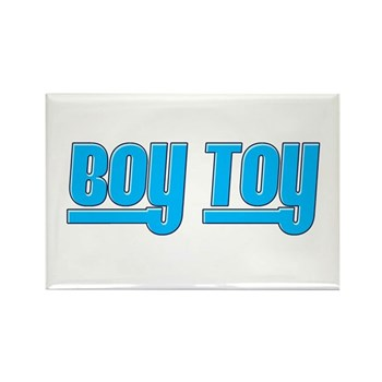 Boy Toy - Blue Rectangle Magnet (100 pack)