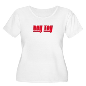 Boy Toy - Red Women's Plus Size Scoop Neck T-Shirt