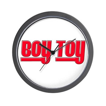 Boy Toy - Red Wall Clock