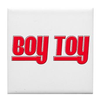 Boy Toy - Red Tile Coaster