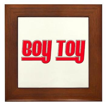 Boy Toy - Red Framed Tile