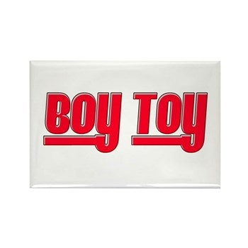 Boy Toy - Red Rectangle Magnet (10 pack)