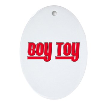 Boy Toy - Red Oval Ornament