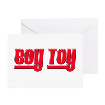 Boy Toy - Red Greeting Card