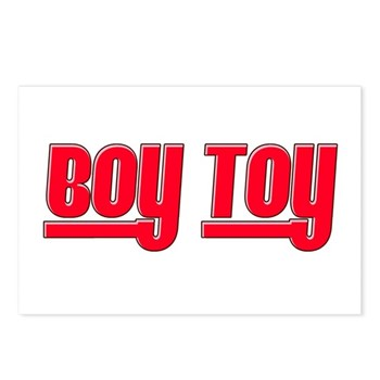Boy Toy - Red Postcards (Package of 8)