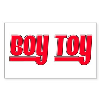 Boy Toy - Red Rectangle Sticker