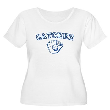 Catcher - Blue Women's Plus Size Scoop Neck T-Shir