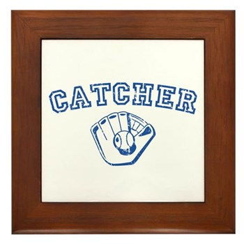 Catcher - Blue Framed Tile