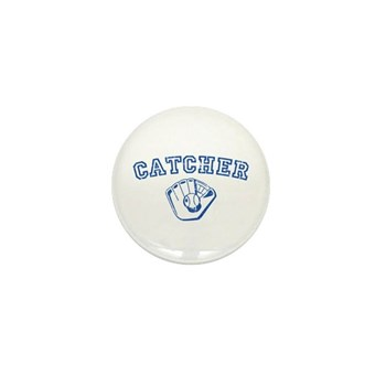 Catcher - Blue Mini Button (10 pack)