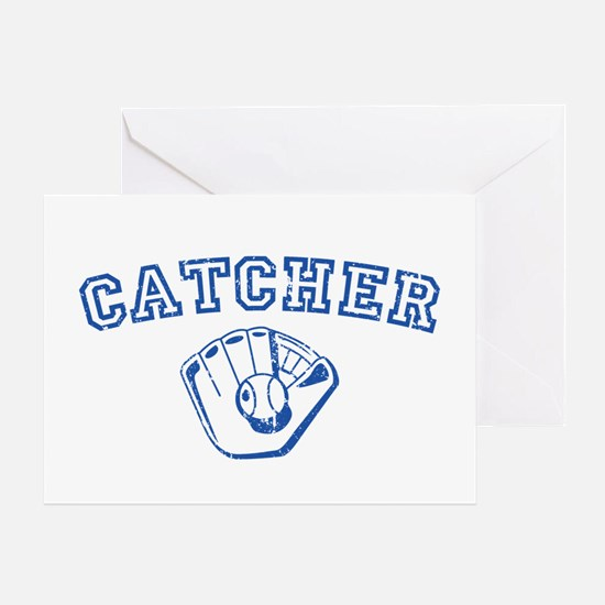 Catcher - Blue Greeting Card