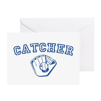 Catcher - Blue Greeting Cards (20 pack)