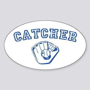 Catcher - Blue Oval Sticker