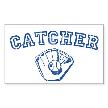 Catcher - Blue Rectangle Sticker
