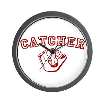 Catcher - Red Wall Clock
