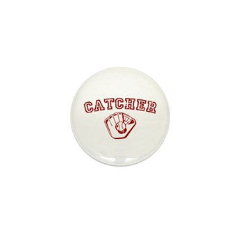 Catcher - Red Mini Button (10 pack)