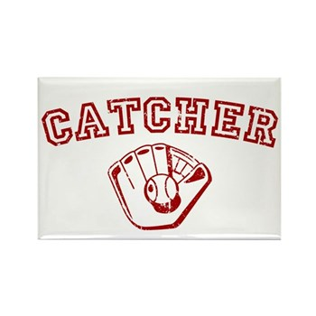 Catcher - Red Rectangle Magnet