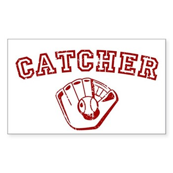 Catcher - Red Rectangle Sticker