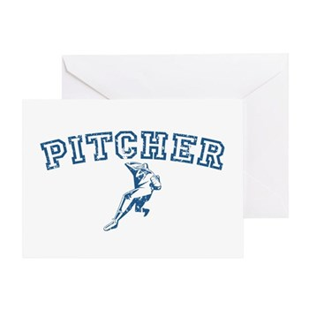 Pitcher - Blue Greeting Card