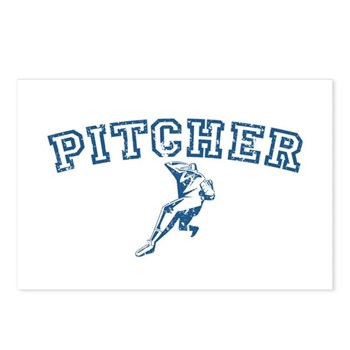 Pitcher - Blue Postcards (Package of 8)