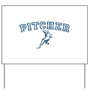 Pitcher - Blue Yard Sign