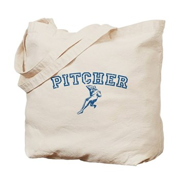 Pitcher - Blue Tote Bag