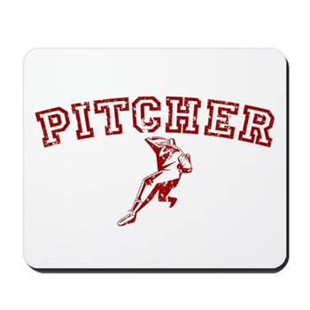 Pitcher - Red Mousepad