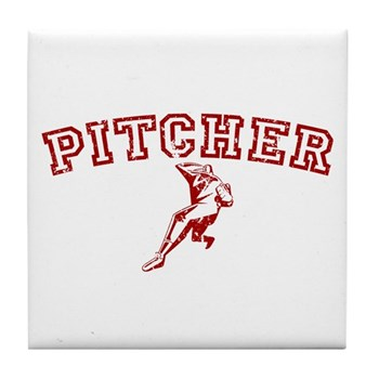 Pitcher - Red Tile Coaster