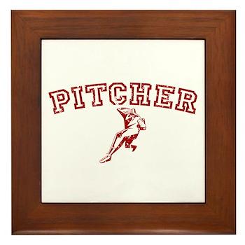 Pitcher - Red Framed Tile