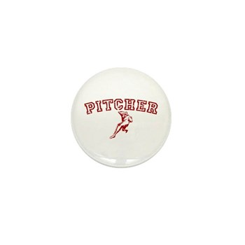 Pitcher - Red Mini Button (10 pack)