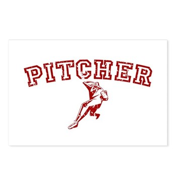 Pitcher - Red Postcards (Package of 8)
