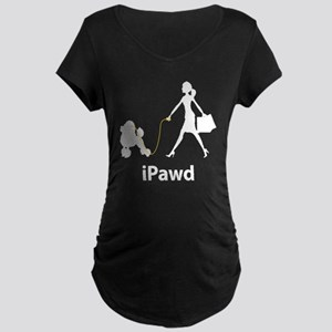 Poodle Maternity Dark T-Shirt