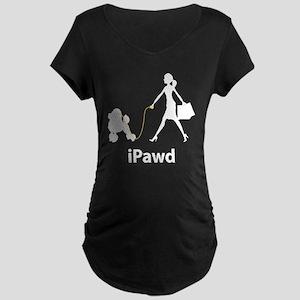 Poodle Maternity Dark T-Shirt
