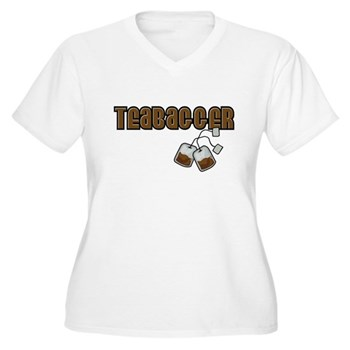 Teabagger Women's Plus Size V-Neck T-Shirt
