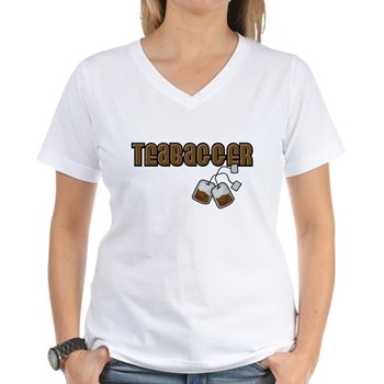 Teabagger Women's V-Neck T-Shirt