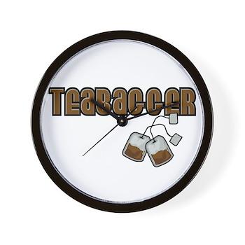 Teabagger Wall Clock