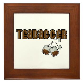 Teabagger Framed Tile