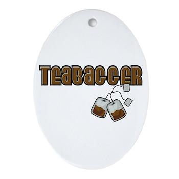 Teabagger Oval Ornament