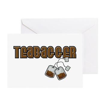 Teabagger Greeting Card
