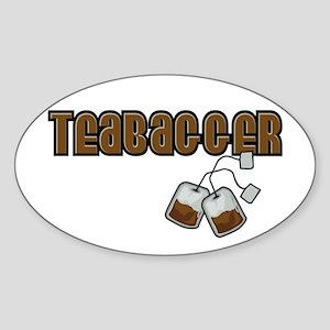 Teabagger Oval Sticker