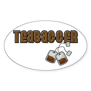 Teabagger Oval Sticker (50 pk)