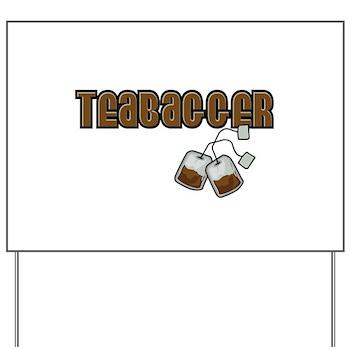 Teabagger Yard Sign